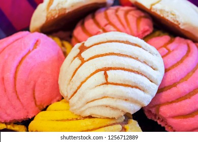 Sweet Mexican bread background