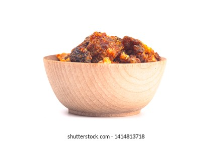 Sweet Myrrh Opoponax Isolated on a White Background