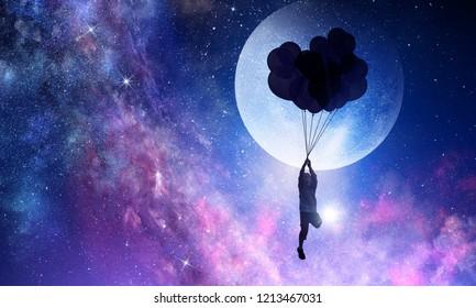 It is sweet night dream. Mixed media
