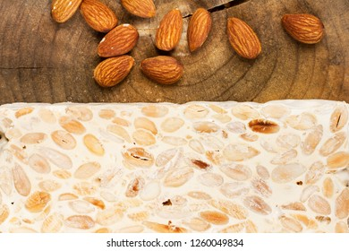 Sweet nougat and almonds