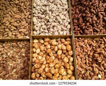 Sweet nuts, food
