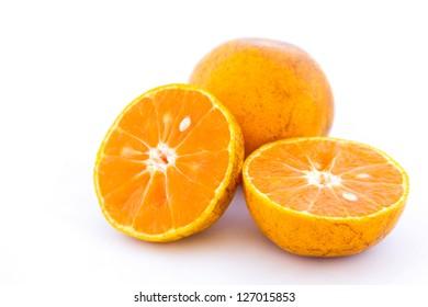 Sweet orange fruit  on white background