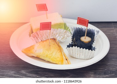 Sweet pastry cake with puff