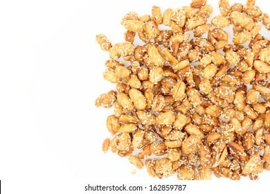 sweet peanut on white background