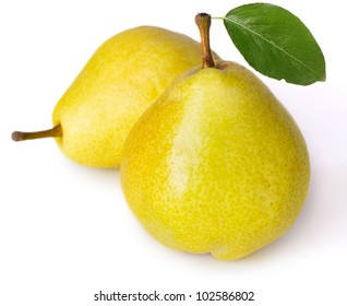 sweet pears isolated on white background