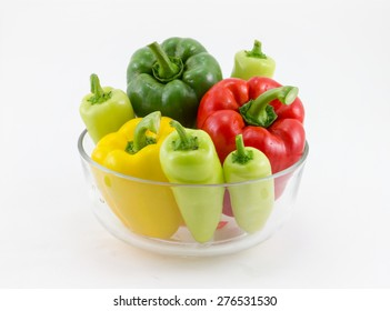sweet pepper, chili ,on White Background