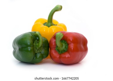 Sweet peppers on an isolated background
