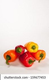 Sweet Peppers on a White Background