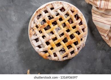 Sweet pie on concrete