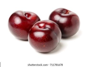 Sweet plum isolated on white background