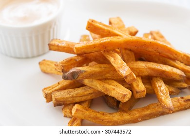 sweet potato fries with dip