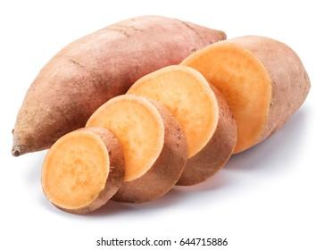 Sweet potato. Isolated on a white background.