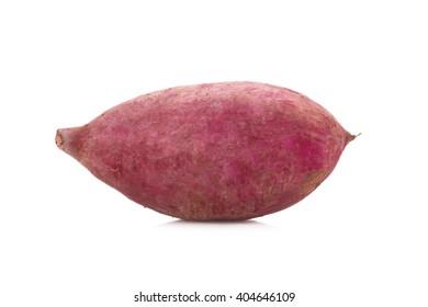 Sweet potato on the white background.