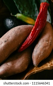 sweet potato and peppers