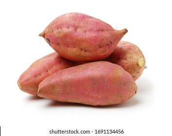 sweet potatoes on the white background - Shutterstock ID 1691134456