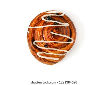 sweet puff pastry on a white background