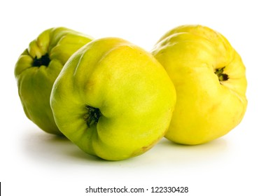sweet quinces, isolated on white