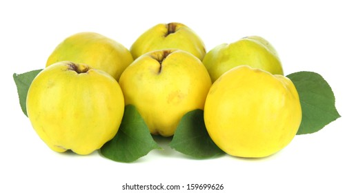 Sweet quinces isolated on white