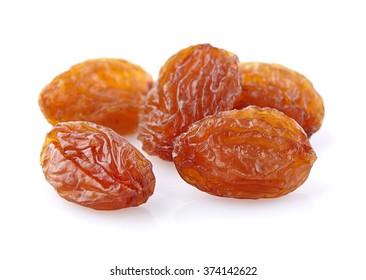 Sweet raisins in closeup