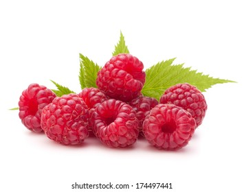Sweet raspberry isolated on white background cutout