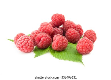 Sweet raspberry isolated on a white background with clipping path