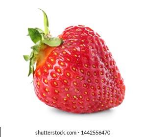 Sweet ripe strawberry on white background