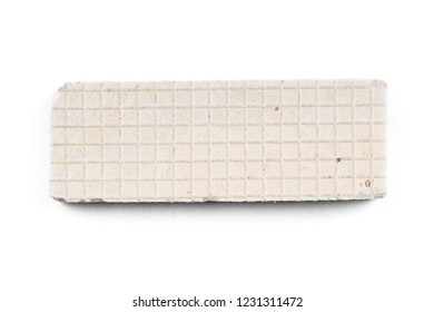 Sweet russian waffles isolated on white