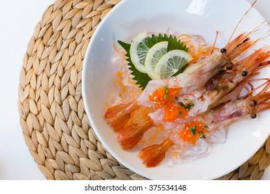 Sweet shrimp raw