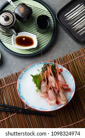 Sweet Shrimp Sashimi (Amaebi) Japanese food