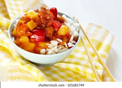 Sweet and Sour Chicken on Rice