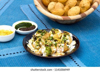 Sweet, sour, tangy, spicy and crispy dahi puri is a delicious, yummy chaat snack from Mumbai. It is a popular Indian street snack which is a favourite of children as well as adult.