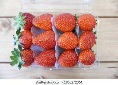 Sweet strawberries in South Korea