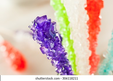 Sweet Sugary Multi Colored Rock Candy Ready to Eat