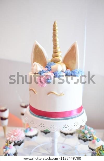 Enjoyable Sweet Table Big Cake First Birthday Stock Photo Edit Now 1125449780 Funny Birthday Cards Online Elaedamsfinfo