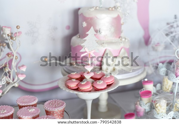 Brilliant Sweet Table Big Cake First Birthday Stock Photo Edit Now 790542838 Funny Birthday Cards Online Elaedamsfinfo