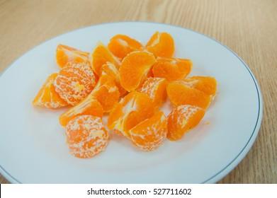 Sweet tangerine fruit background