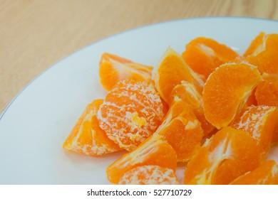 Sweet tangerine fruit closeup background.