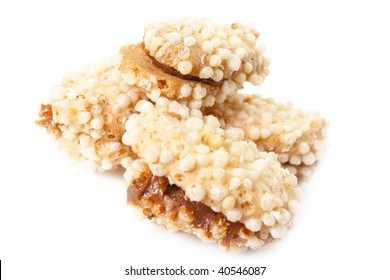 sweet tasty cookies on a white background