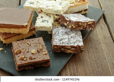 sweet tray bake selection