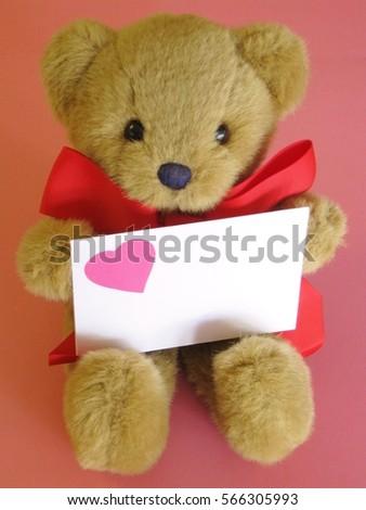 Sweet Valentines Day Teddy Bear Big Stock Photo Edit Now 566305993