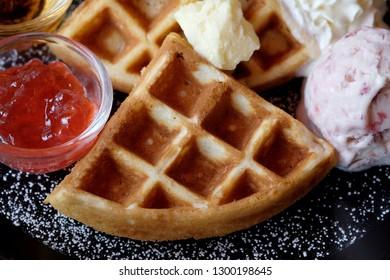 Sweet waffle dish.
