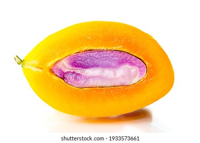 sweet yellow Marian plum thai fruit in basket background (Mayongchid Maprang Marian Plum and Plum Mango,Thailand).clipping path.