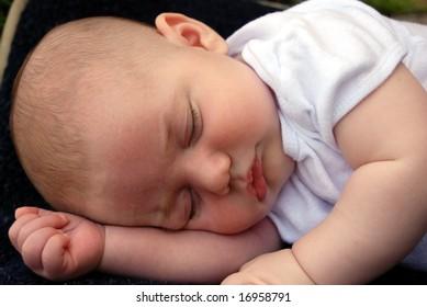 Sweet Young Sleeping Baby