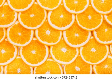 Sweet Yummy Oranges Fruit Background. Healthy Food Concept