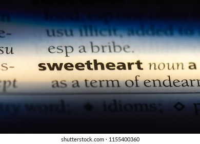 sweetheart word in a dictionary. sweetheart concept.