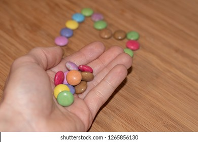 sweeties in hand - smarties