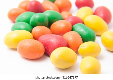 Sweets in close up view