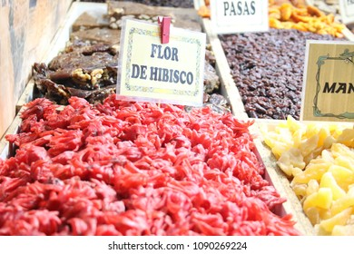 Sweets and dried fruits in Market
