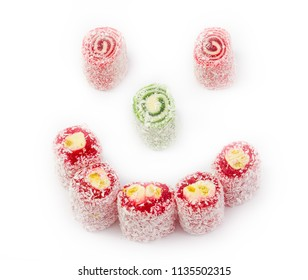 Sweets in the form of a smile