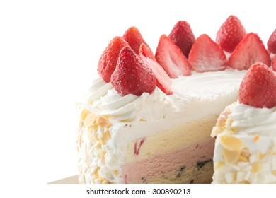 sweety strawberry delight ice-cream cake